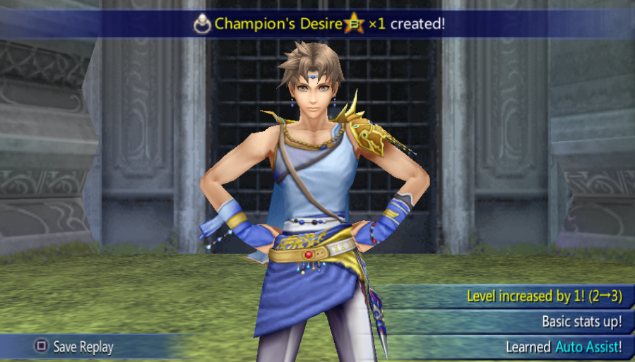 Bartz Klauser -Misc Victory!:Bartz victory pose (non EX Mode) - User Screenshot