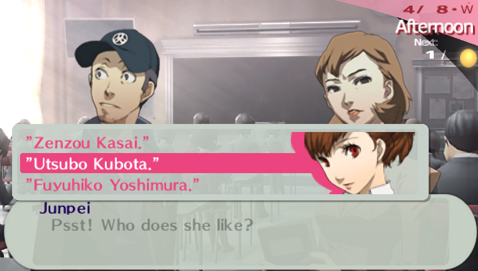 Junpei Iori -Misc Answers:The answer to the question :P - User Screenshot