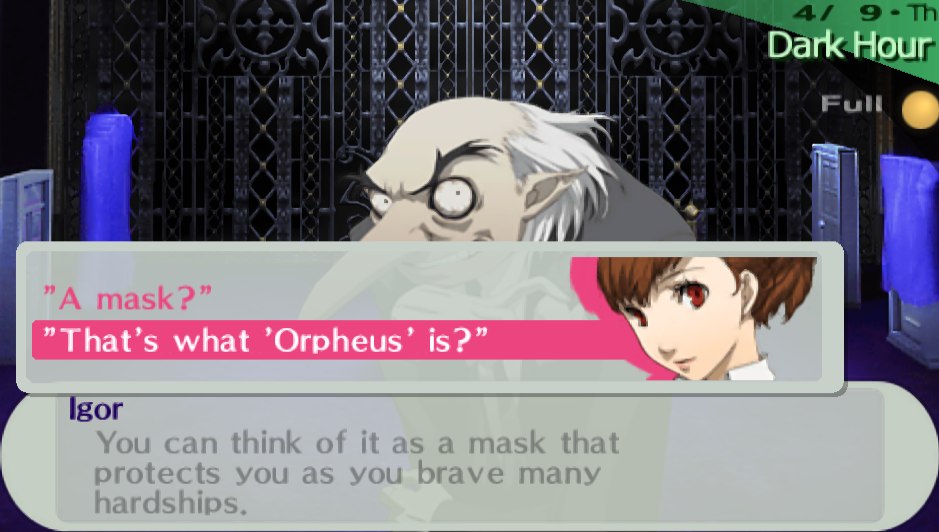 Igor -Cut-Scene :A persona is a mask?  - User Screenshot