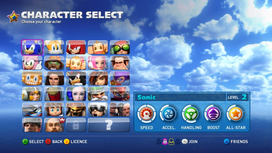 AGES -Character Select :The character select screen - User Screenshot