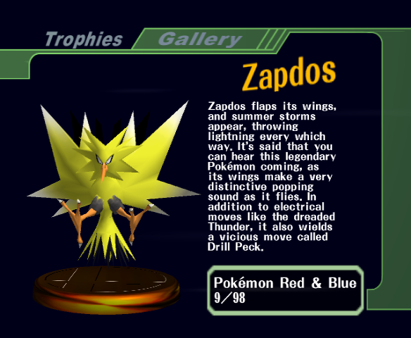 Super Smash Bros. Melee - Character Profile  - Trophy - User Screenshot