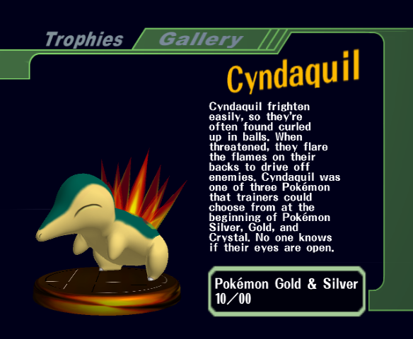 Cyndaquil -Character Profile :Trophy - User Screenshot