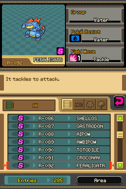 Feraligatr -Character Profile :Browser Entry - User Screenshot