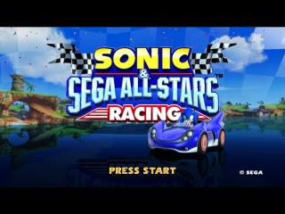 Sonic and SEGA All Stars Racing - Introduction  - Title Screen - User Screenshot