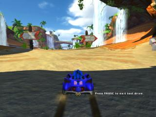 Sonic and SEGA All Stars Racing - Level  - Gameplay on Seaside Hill - User Screenshot