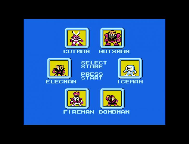 Elec Man -Level Select :Mega Man 1 Stage Select - User Screenshot