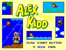 Alex Kidd in Miracle World Title Screen