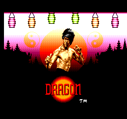 Dragon - the Bruce Lee Story Title Screen