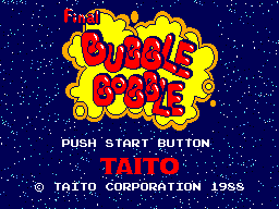 Final Bubble Bobble Title Screen