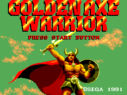 Golden Axe Warrior Title Screen
