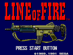Line of Fire Title Screen