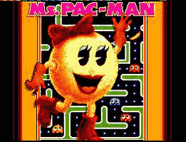 Ms. Pacman Title Screen