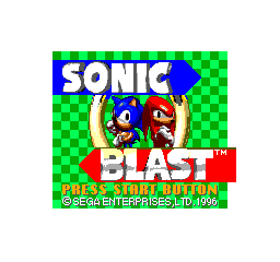 Sonic Blast Title Screen