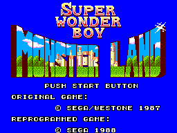 Super Wonder Boy - Monster World