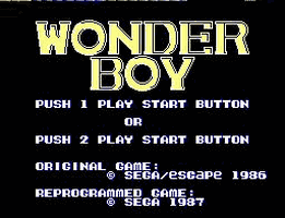 Wonder-Boy Title Screen