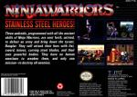 Ninja Warriors, The Box Art Back