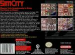 SimCity Box Art Back