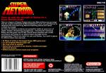 Super Metroid Box Art Back