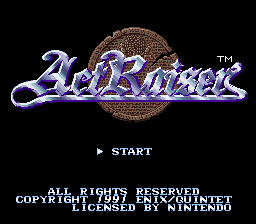 ActRaiser Title Screen