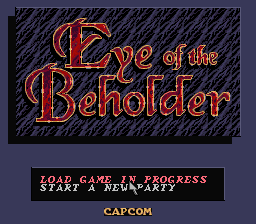 Advanced Dungeons & Dragons - Eye of the Beholder