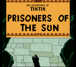 The Adventures of Tintin - Prisoners of Title Screen