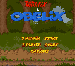Asterix & Obelix Title Screen