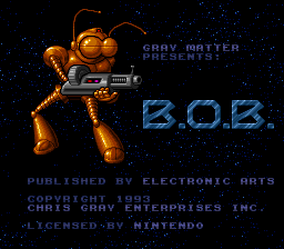 B.O.B. Title Screen