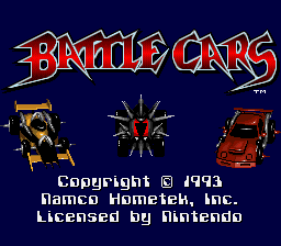 Battle Cars Title Screen