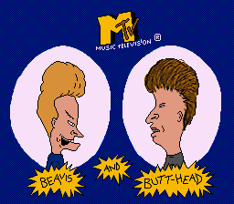 Beavis and Butthead Title Screen