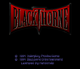 Blackthorne Title Screen