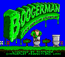 Boogerman - A Pick and Flick Adventure Title Screen