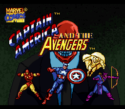 Captain America & The Avengers Title Screen