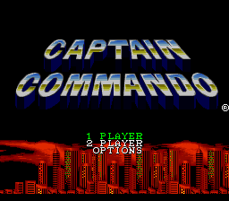 Captain Commando Title Screen