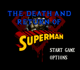 The Death and Return of Superman Title Screen