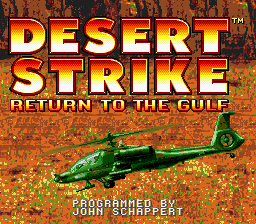Desert Strike - Return to the Gulf Title Screen