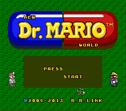 Dr. Mario World Redrawn Title Screen