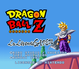 Dragon Ball Z - La Legende Saien Title Screen