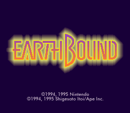 EarthBound Halloween Hack - Bad Fur Day Edition Title Screen