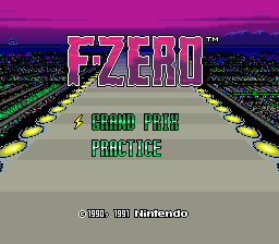 F-ZERO Title Screen