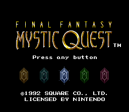 Final Fantasy - Mystic Quest Title Screen