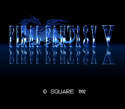 Final Fantasy V Title Screen