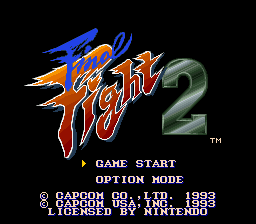 Final Fight 2 Title Screen