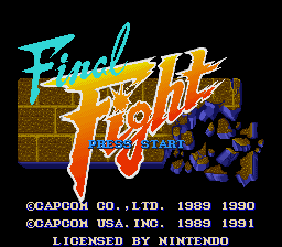 Final Fight Title Screen