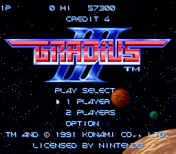 Gradius III Title Screen