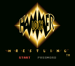 Hammerlock Wrestling Title Screen