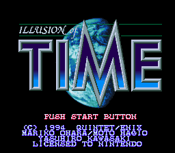 Illusion of Time Title Screen