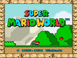 Kaizo Mario World Title Screen