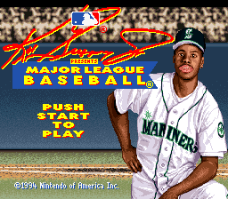 Ken Griffey Jr. Presents Major League Baseball Title Screen