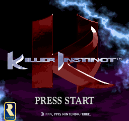 Killer Instinct Title Screen