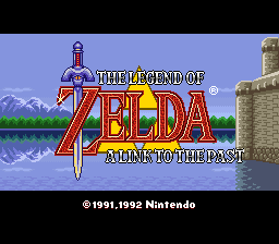 The Legend of Zelda - A Link to the Past Title Screen